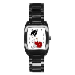 Frankie s Pin Up Stainless Steel Barrel Watch