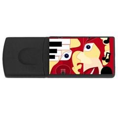 Soul Man 4gb Usb Flash Drive (rectangle)