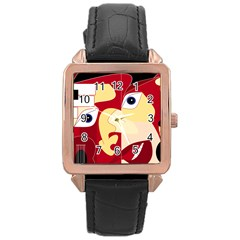 Soul Man Rose Gold Leather Watch