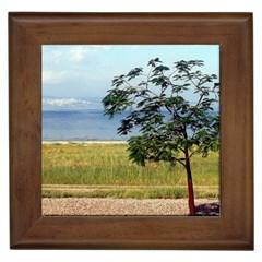 Sea Of Galilee Framed Ceramic Tile
