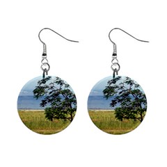 Sea Of Galilee Mini Button Earrings