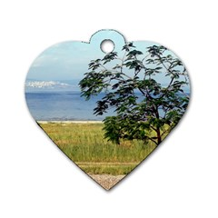 Sea Of Galilee Dog Tag Heart (One Sided)