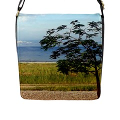 Sea Of Galilee Flap Closure Messenger Bag (large)