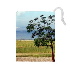 Sea Of Galilee Drawstring Pouch (Large)
