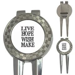 Live Hope Wish Make Golf Pitchfork & Ball Marker