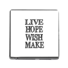 Live Hope Wish Make Memory Card Reader With Storage (square)