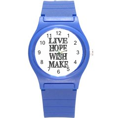 Live Hope Wish Make Plastic Sport Watch (small)