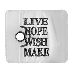 Live Hope Wish Make Samsung Galaxy S  Iii Flip 360 Case