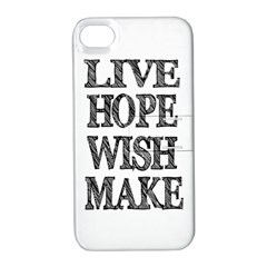 Live Hope Wish Make Apple Iphone 4/4s Hardshell Case With Stand