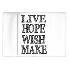 Live Hope Wish Make Samsung Galaxy Tab 10.1  P7500 Flip Case