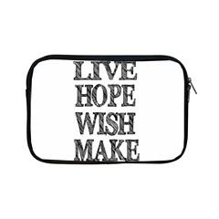 Live Hope Wish Make Apple Ipad Mini Zippered Sleeve