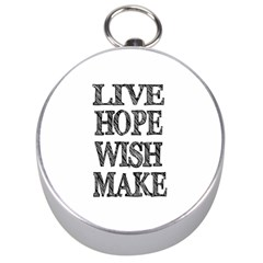 Live Hope Wish Make Silver Compass