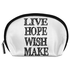 Live Hope Wish Make Accessory Pouch (Large)