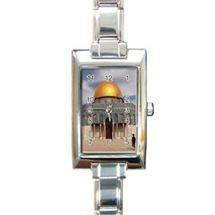 The Dome Of The Rock  Rectangular Italian Charm Watch