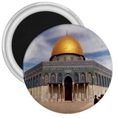 The Dome Of The Rock  3  Button Magnet