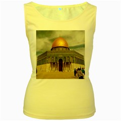 The Dome Of The Rock  Women s Tank Top (yellow)