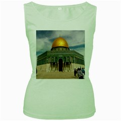 The Dome Of The Rock  Women s Tank Top (Green)