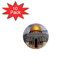 The Dome Of The Rock  1  Mini Button Magnet (10 Pack)