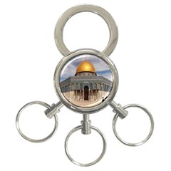 The Dome Of The Rock  3 Ring Key Chain
