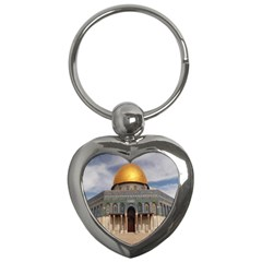 The Dome Of The Rock  Key Chain (Heart)