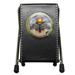 The Dome Of The Rock  Stationery Holder Clock