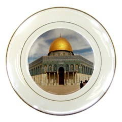 The Dome Of The Rock  Porcelain Display Plate