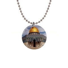 The Dome Of The Rock  Button Necklace