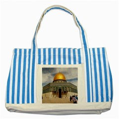 The Dome Of The Rock  Blue Striped Tote Bag