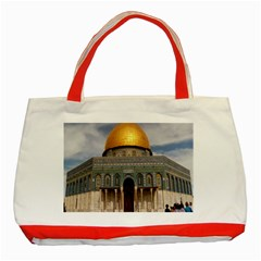 The Dome Of The Rock  Classic Tote Bag (Red)