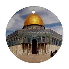 The Dome Of The Rock  Round Ornament (Two Sides)