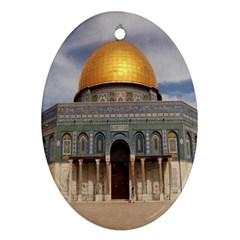 The Dome Of The Rock  Oval Ornament (two Sides)