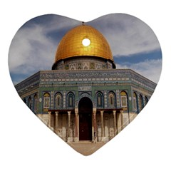 The Dome Of The Rock  Heart Ornament (Two Sides)