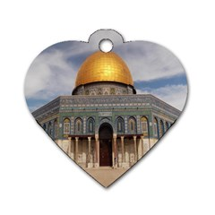 The Dome Of The Rock  Dog Tag Heart (two Sided)