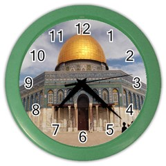 The Dome Of The Rock  Wall Clock (color)