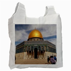 The Dome Of The Rock  White Reusable Bag (two Sides)
