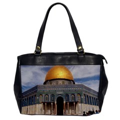 The Dome Of The Rock  Oversize Office Handbag (one Side)