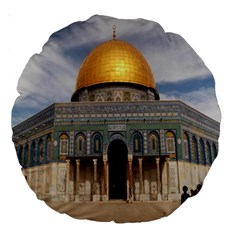 The Dome Of The Rock  18  Premium Round Cushion