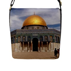 The Dome Of The Rock  Flap Closure Messenger Bag (Large)