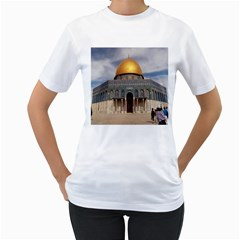 The Dome Of The Rock  Women s T-Shirt (White)
