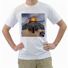The Dome Of The Rock  Men s T-Shirt (White)
