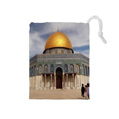 The Dome Of The Rock  Drawstring Pouch (Medium)