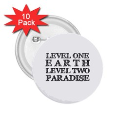 Level One Earth 2 25  Button (10 Pack)