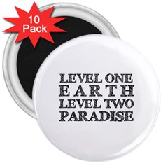 Level One Earth 3  Button Magnet (10 pack)