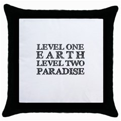 Level One Earth Black Throw Pillow Case