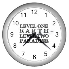 Level One Earth Wall Clock (Silver)