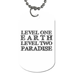 Level One Earth Dog Tag (one Sided)