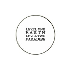 Level One Earth Golf Ball Marker 4 Pack (for Hat Clip)