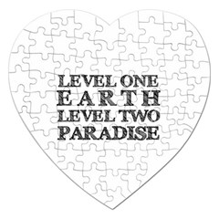 Level One Earth Jigsaw Puzzle (heart)