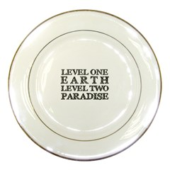 Level One Earth Porcelain Display Plate