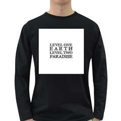 Level One Earth Men s Long Sleeve T-shirt (Dark Colored)